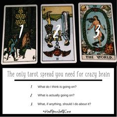 The only tarot spread you need when your brain just won't be quiet.