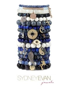 Sydney Evan jewelry has an assortment of different colored beads and many different charms to choose from. You can create your own combinations and they even look great stacked! Come into a London Jewelers location, or visit www.londonjewelers.com to view the selection!