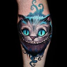 Beautiful Cheshire Cat tattoo