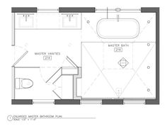 Jack and jill bathroom floor plan with shower and a for Master bathroom floor plans 10x12