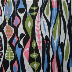 Stig Lindberg Bulbous Fabric  1950s scandinavian swedish design classic