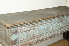 Vintage Wall Mount Table   Antique Swedish Wall Mount Console with Old Paint at 1stdibs