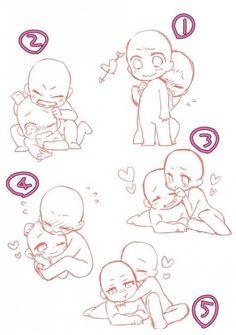 Chibi Base Couple, Cute Chibi Couple, Anime Base Couple, Ship Drawing, Drawing Base, Manga Drawing, Art Drawings Sketches Simple, Cute Drawings, Pencil Drawings