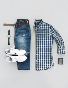 Mens Casual Dress Outfits, Stylish Mens Outfits, Cool Outfits, Fashion Outfits, Business Casual Attire, Outfit Grid, Mens Clothing Styles, Men Casual, Casual Styles