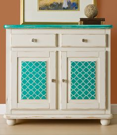 Craft Painting - Stenciled Designer Chest