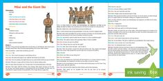 Māui and the Giant Ika Play Script Great Stories, Maui, Script, Legends, Explore, Play, Learning, Script Typeface, Studying