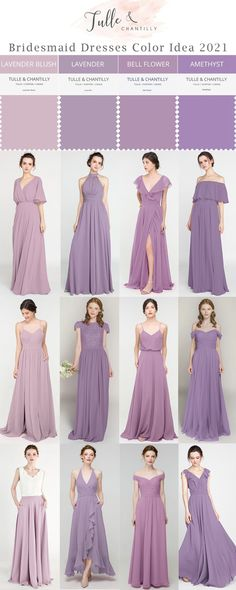 Perfect mix and match purple bridesmaid dresses on budget for spring fall wedding color ideas Purple Bridesmaid Dresses, Wedding Bridesmaids, Junior Bridesmaids, Prom Dresses, Wedding Dresses, Fall Wedding Colors, Summer Wedding, Long Shorts, Wedding Ideas