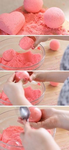 Want to learn how to make your own bath bombs? DIY bath bomb tutorial and recipe like Lush stores. Cool DIY gift for teens or craft idea to make and sell. Diy Craft Projects, Easy Diy Crafts, Diy Projects For Teens, Cute Crafts, Diy For Teens, Crafts For Teens, Diy Crafts You Can Sell, Teen Crafts, Diy For Girls
