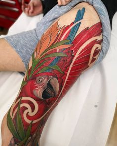 Do you like this tattoo? Tribal Tattoos, Bird Tattoos, Polynesian Tattoos, Manos Tattoo, Parrot Tattoo, Think Tattoo, Piercings, Tattoo Designs, Tattoo Art
