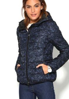 Bunda s kapucňou a potlačou #ModinoSK Athletic, December, Jackets, Fashion, Quilted Jacket, Velvet, Cowls, Woman, Block Prints