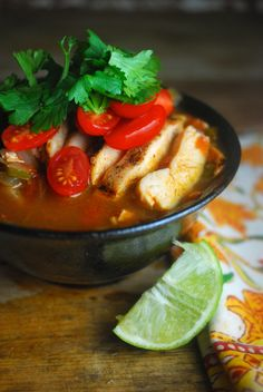 Yum! Loving this easy, healthy soup with southwestern spices and lime. Paleo and gluten free.