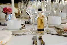 Welsh wedding favour idea - minature Penderyn whisky.