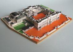 Buckingham Palace, London -model- London Models, 3d Craft, Royal Residence, Castle House, Buckingham Palace, Palace London, Floor Plans, Layout, Google Search