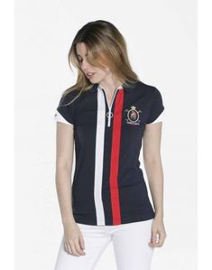 Valecuatro polo deportivo azul marino Camisa Polo, Camisa Tribal, Sport Outfits, Cute Outfits, Look Office, Fashion Design Template, Tee Shirt Designs, Equestrian Outfits, Girls Tees