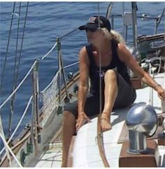 we are sailing ...we are sailing ..... Me a few years ago on my way to Catalina Island