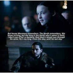 Game of Thrones Season 6 Lyanna Mormont ! King Of The North Jon Snow . The North Remembers . Got Serie, Film Serie, Game Of Thrones Quotes, Game Of Thrones Funny, Game Of Thrones Theories, Game Of Thrones Facts, Winter Is Here, Winter Is Coming, Fandoms