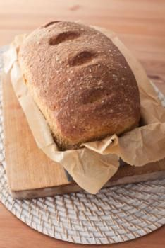 Low calorie whole wheat bread recipe.  Makes 3 loaves and is only 42 Calories per slice.