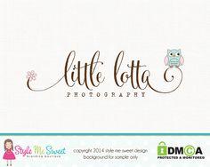 Photography Logo Owl Logo Premade Logo Hand by stylemesweetdesign, $40.00