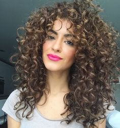 "104.6k Likes, 1,116 Comments - Sarah Angius (@sarahangius) on Instagram: ""Happy Monday Instafam #curlyhair #boldlip #sarahangiusinspired"""