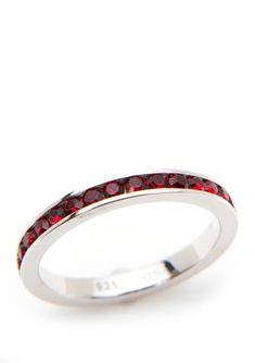 A sterling silver construction defines this red ring from Belk Silverworks, featuring a unique eternity band design. Red Rings, Silver Rings, Beauty And The Beast Halloween Costume, Red Wedding, Wedding Rings, Caroline White, Red Band, Eternity Bands, Promise Rings