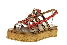 INUOVO Damenschuhe Sandalen 7246 RED LEOPARD Größe 39 Rote - Schnürhalbschuhe für frauen (*Partner-Link) Red Leopard, Partner, Sandals, Ebay, Best Deals, Link, Shoes, Fashion, Women's Shoes Sandals