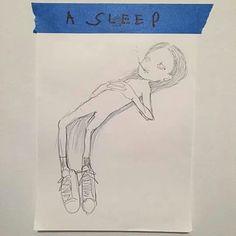 feel like ... by eri wakiyama #sleeply #lazy #feellike #likethiz #drawing #by #eriwakiyama #SquareInstaPic