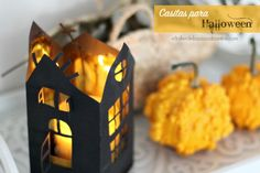 DIY Halloween casa terrorífica hecha de papel   Halloween - casa de cartón luz