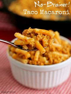 This simple taco macaroni recipe is just right when you need a VERY easy family-friendly dinner!