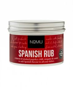 A blend of smoked paprika, chilli, oregano and cumin to add Spanish flavour to all your dishes. From paella to BBQ'd chicken, prawns and seafood, this Rub will add flair and flavour to. South African Recipes, Smoked Paprika, Paella, Coffee Cans, Hot Chocolate, Cocoa, Seafood, Baking, Fruit