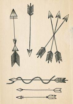 A few Arrow tattoo designs