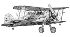 Gloster Gladiator  http://www.biplane.link/ Plane - Aircraft - WWI - WW2 - Planes - Fighter - Bombers - Biplane - War - World - Picture - Art - Fighter - Old - Classic - Millitry - German - American - British - RAF -RFC - USAF - USAAF - One - Two - Trainer - WW1 - WW2 - Vintage - Art - Drawing Airplane Drawing, Airplane Art, Aircraft Tattoo, Airplane Tattoos, Airplane Illustration, Bomber Plane, Old Planes, Vintage Airplanes, Aviation Art