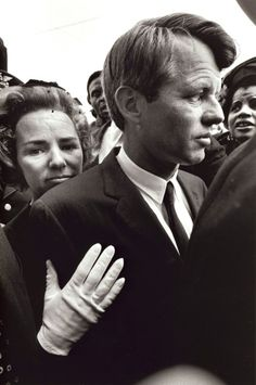 Robert and Ethel Kennedy at Martin Luther King's funeral. Photo by Burk Uzzle.bg
