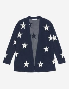 Sandro long cardigan<br /> • Long sleeves<br /> • Contrasting coloured star motif<br /> • Two pockets at the front<br /> • Model is wearing a size 1<br /><br /> Star motif designed by the Sandro studio