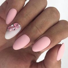 44 nail art designs for autumn 2018 Frensh Nails, Nail Manicure, Love Nails, Swag Nails, Matte Pink Nails, Gorgeous Nails, Pretty Nails, New Nail Art, Fall Nail Designs