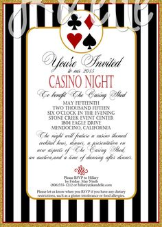 Casino Night Invitation by JKandElle on Etsy