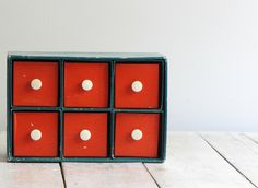 Vintage mid century storage box