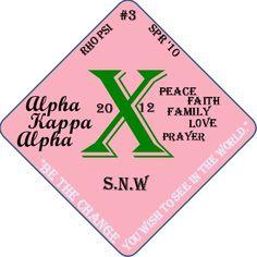 Greek Life Sorority Alpha Kappa Alpha  Show off your organization! Professionally Printed Grad Cap Decorations
