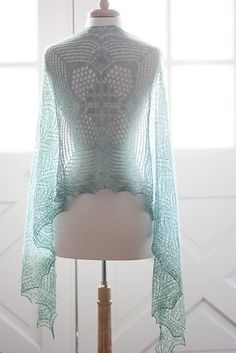 Meeks Bay by Rosemary (Romi) Hill Knitting Shawl/Wrap Published December 2014…