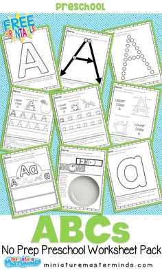 Free Printable Preschool Alphabet Workbook Preschool Workbooks, Free Kindergarten Worksheets, Preschool Age, Preschool Learning Activities, Preschool Letters, Free Preschool, Alphabet Activities, Kindergarten Readiness, Alphabet Crafts