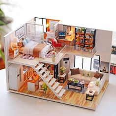 Dependable New Girl Diy 3d Wooden Mini Dollhouse Doll House Furniture Blocks Educational Aegean Sea Toys Furniture For Kids Christmas Gifts To Have A Long Historical Standing Toys & Hobbies