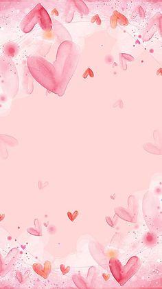 Flower Background Wallpaper, Flower Phone Wallpaper, Cute Girl Wallpaper, Pink Wallpaper Iphone, Cute Patterns Wallpaper, Heart Wallpaper, Cellphone Wallpaper, Valentines Wallpaper Iphone, Pink Heart Background