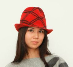 Felt Fedora Hat. 100% Wool, Handmade. Design and Production: Tumar Art Group.