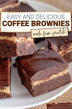 Brownie Toppings, Brownie Recipes, Cake Recipes, Party Recipes, Dessert Recipes, Chocolate Ganache Frosting, Ganache Recipe, Coffee Frosting Recipe, Coffee Cupcakes