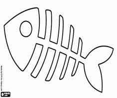 Colora Una lisca di pesce giocattolo