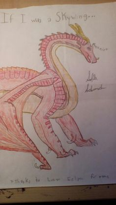 If i was a Skywing, my name would be Phoenix!!   From the Wings of Fire series!!   Made by me! (Sofia Schumacher)