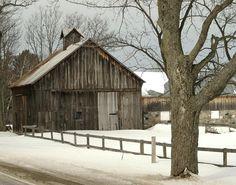 Beautiful Michigan Barn in Winter