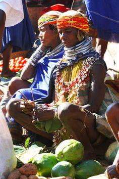 Orissa, Bondo tribe, India