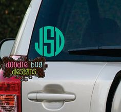 Letter Custom Vinyl Monogram Decal For Car By DoodlebugdesignsTN - Letter custom vinyl decals for car