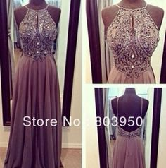 Real Made Picture -Luxury Beaded Open Back Long Prom Dresses on Etsy, $428.25