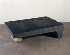 Isamu Noguchi Water Table1968 Black granite, pink granite boulder, water